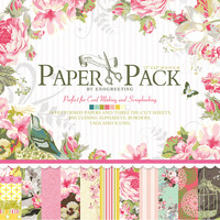 12 x 12 PERFECTLY PINK  PAPER PAD 010615e