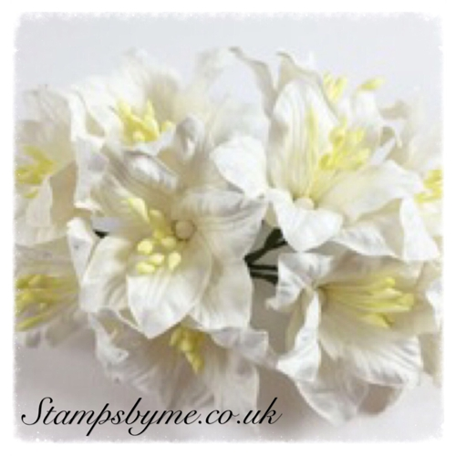 PAPER LILY FLOWERS - WHITE - 230715c