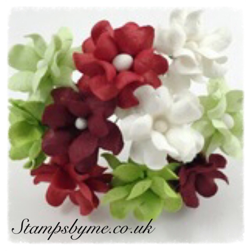 SWEETHEART BLOSSOM PAPER FLOWERS - CHRISTMAS COLLECTION - 230715i