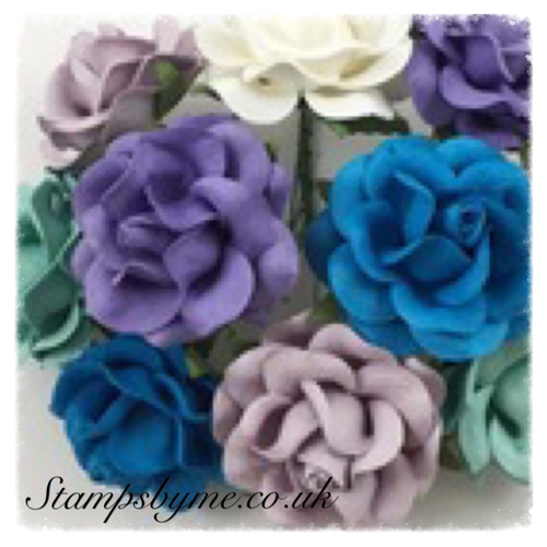 WILD ROSES PAPER FLOWERS - MIDNIGHT COLLECTION - 230715j