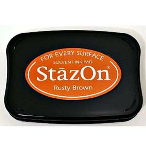 STAZON INK PAD RUSTY BROWN 080116c