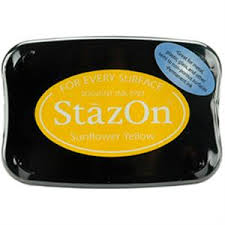 STAZON INK PAD SUNFLOWER YELLOW 080116f