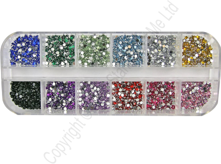 RHINESTONES - Multi-Coloured stones - 050316c