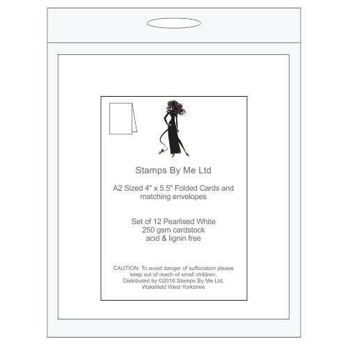 A2 NOTE CARDS AND MATCHING ENVELOPES - White - 140516b