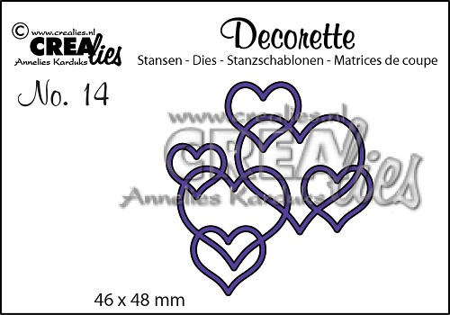 DIE - CREALIES  Interlocking hearts  - 270516c