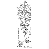 STAMP - Persion Flower 270816r
