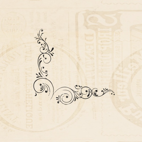 STAMP - BUTTERFLY CORNER FLOURISH