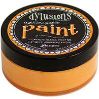 DYLUSIONS ACRYLIC PAINT SQUEEZED ORANGE 150916n