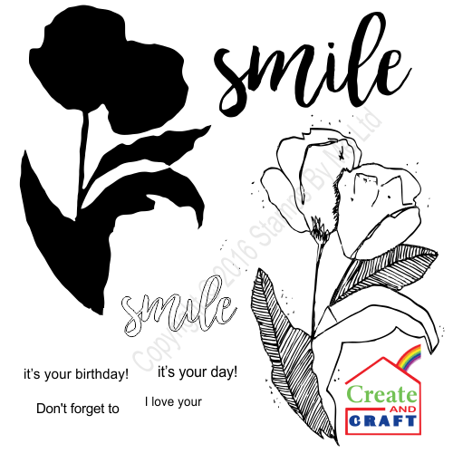 387277 - TV STAMP AND SENTIMENT - Lamination - Smile - 231016u
