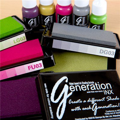 387280 TV - GENERATION INX - Vol 3, 5 INK PADS AND REINKERS - Vibrant Tones - FBL