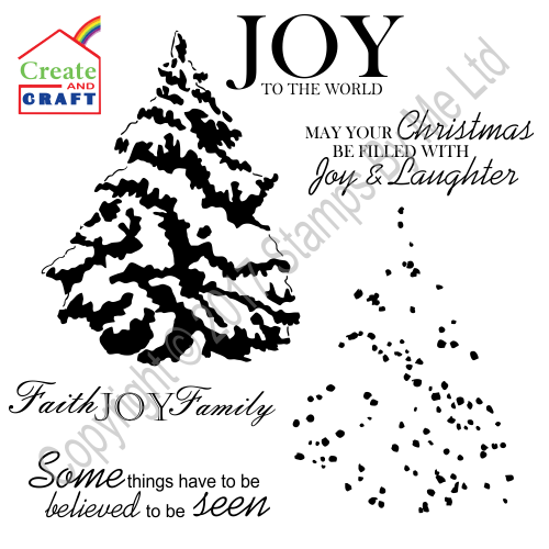 433850 - TV STAMP AND SENTIMENT CHRISTMAS - Faith, Joy, Family - 040917f