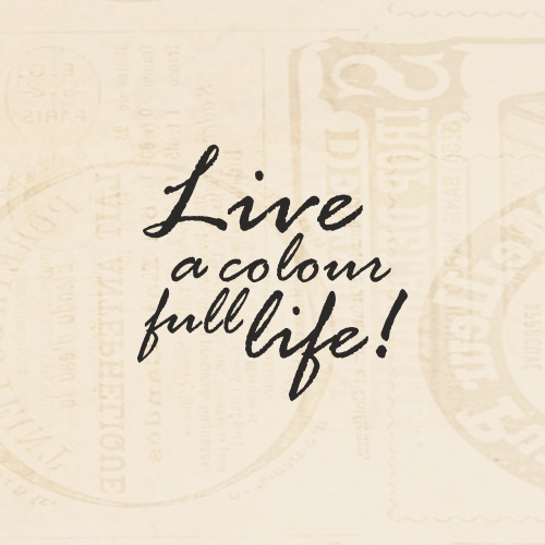 STAMP SENTIMENT - LIVE A COLOUR FULL LIFE