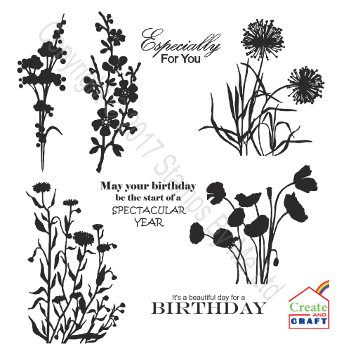 438658 - TV STAMP - Wild Flowers 5 - 161017f