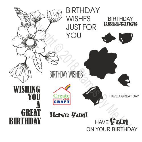 442247 TV - STAMP AND SENTIMENT - LAMINATION - Birthday Splendor - 100118e