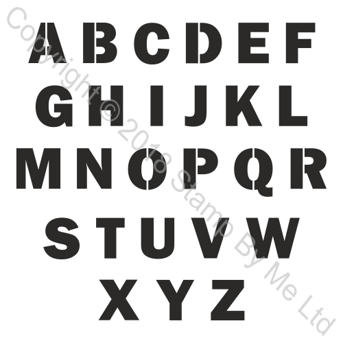 454522 TV - LAMINATION PLUS STENCIL - Letters - 110718j