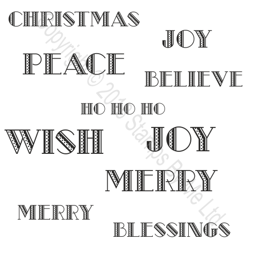 454471 TV - A5 STAMP SET - JOY WISH BELIEVE - 10 STAMPS - 170718g