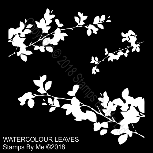 460950.000.9Y7 TV - LAMINATION PLUS STENCIL - WATERCOLOUR LEAVES - 291118q