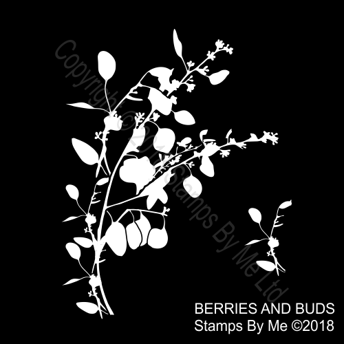 460950.000.9Y8 TV - LAMINATION PLUS STENCIL - BERRIES AND BUDS - 291118r