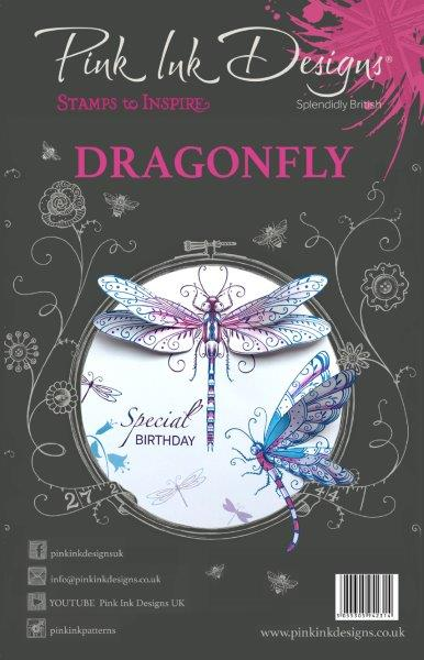 PINK INK DESIGNS DRAGONFLY