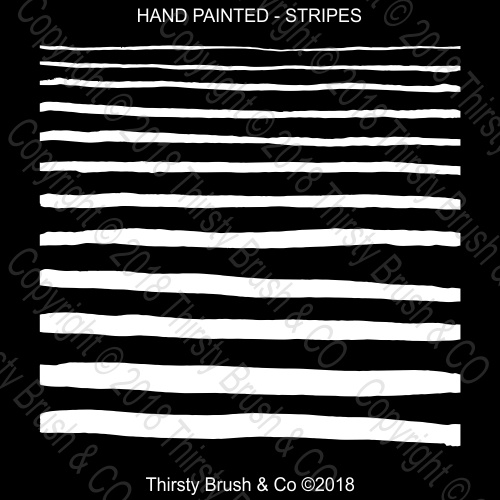 THIRSTY BRUSH & CO STRIPES