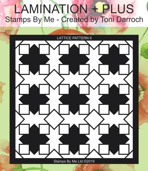 471360 - TV - COLOUR FULL COLLECTION 1 - LATTICE PATTERN 6 STENCIL - 050419n