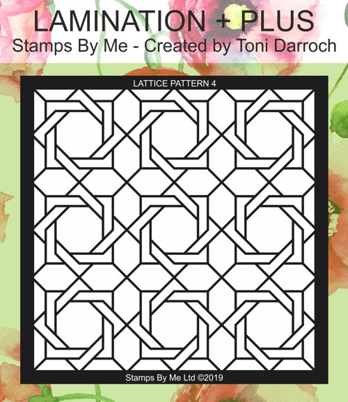 471356 - TV - COLOUR FULL COLLECTION 1 - LATTICE PATTERN 4 STENCIL - 050419p