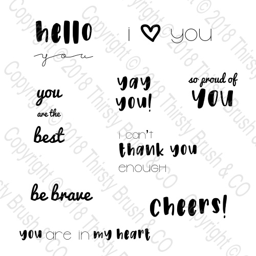 THIRSTY BRUSH & CO - ALL ABOUT YOU A6 STAMP SET