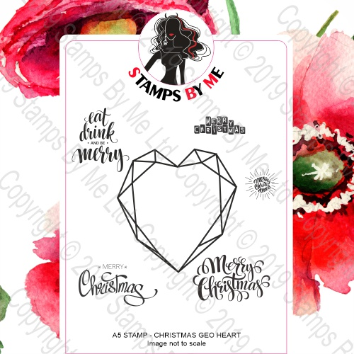 484294 - TV - CHRISTMAS GEO HEART A5 STAMP SET - 200619a