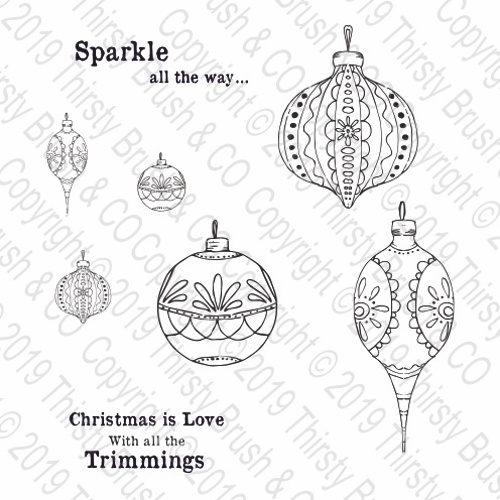 THIRSTY BRUSH & CO - SPARKLE ALL THE WAY A5 STAMP SET 120819a