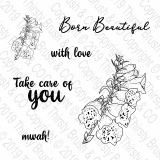 THIRSTY BRUSH & CO - BORN BEAUTIFUL - A5 STAMP SET