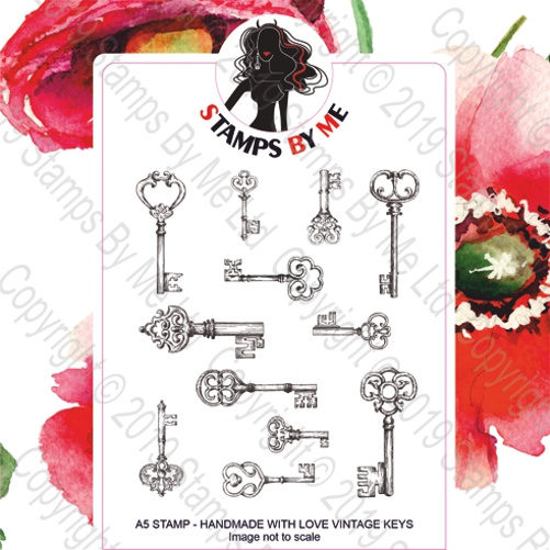 493358 TV - A5 STAMP - HANDMADE WITH LOVE VINTAGE KEYS - 060919f
