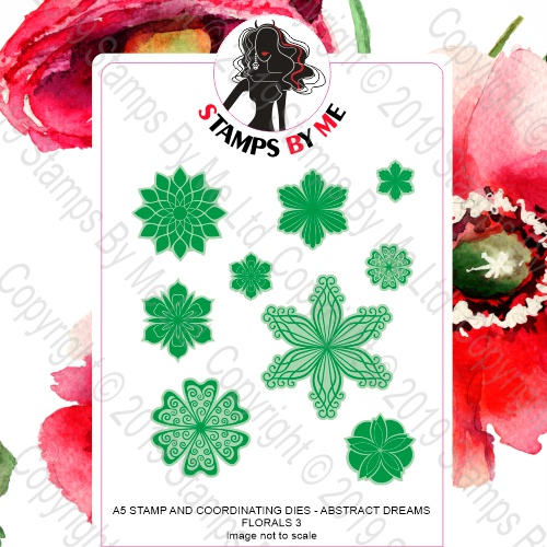 490192 TV - A5 STAMP AND COORDINATING DIE - ABSTRACT DREAMS FLORALS 3 - 161019j