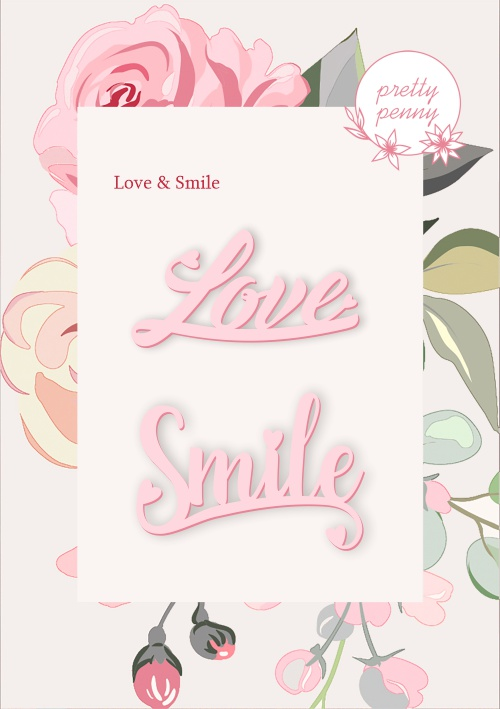 494530 TV - PRETTY PENNY - DIE SET - LOVE AND SMILE SENTIMENTS - 101019j