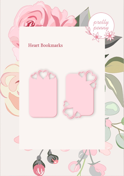 494533 TV - PRETTY PENNY - DIE SET - HEART BOOKMARK - 101019m
