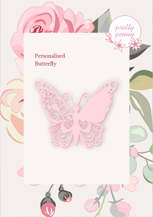 494541 TV - PRETTY PENNY - DIE SET - PERSONALISED BUTTERFLY - 101019r