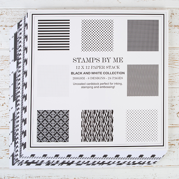 490194 TV - PAPER STACK 12 X 12 -BLACK AND WHITE COLLECTION FBL