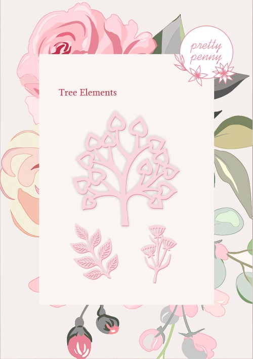 498303 TV - PRETTY PENNY - DIE SET - TREE ELEMENTS - 151119d