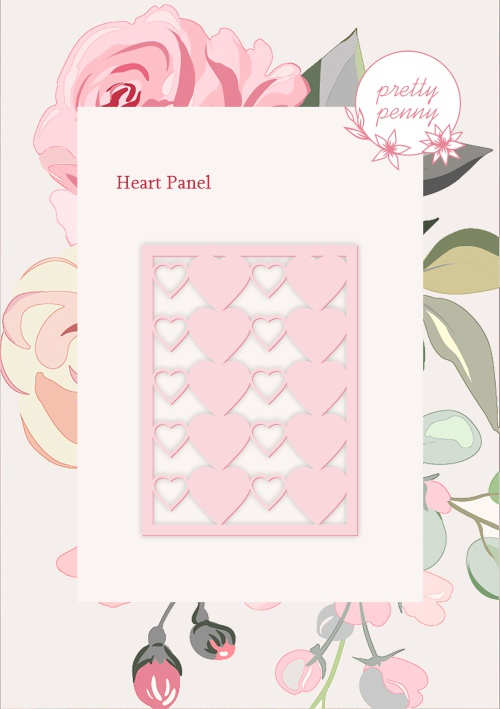 498337 TV - PRETTY PENNY - DIE SET - HEART PANEL - 151119o