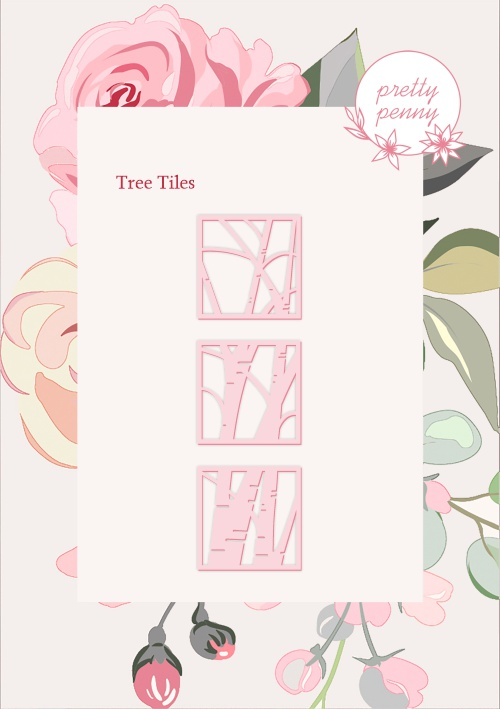 498338 TV - PRETTY PENNY - DIE SET - TREE TILES - 151119p - SHOW - FBL