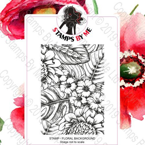 A5 STAMP - BEAUTIFUL INSIDE AND OUT - TWO - FLORAL BACKGROUND - 271119d