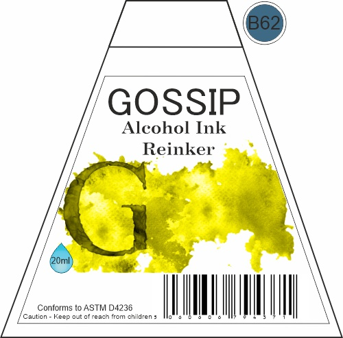 GOSSIP - ALCOHOL INK REINKER, B62 - 271119n