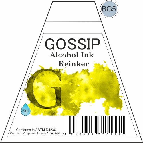 GOSSIP - ALCOHOL INK REINKER, BG5 - 271119w
