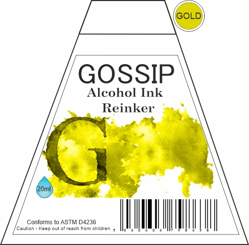 GOSSIP - ALCOHOL INK REINKER, GOLD - 271119a55