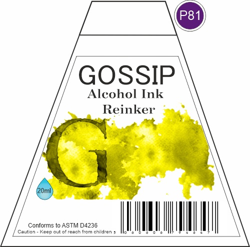 GOSSIP - ALCOHOL INK REINKER, P81 - 271119a67