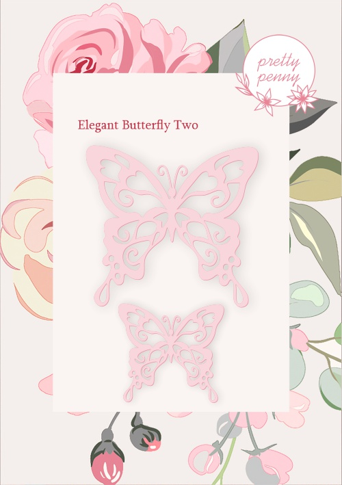501571 - TV - PRETTY PENNY - DIE SET - ELEGANT BUTTERFLY TWO - 141219h