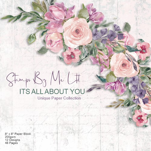 496457 - TV - ITS ALL ABOUT YOU - 8 X 8 PAPER PAD - SUBTLE TONES (PINK) - 111220m