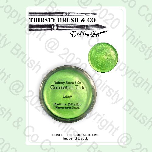 513684 - TV - THIRSTY BRUSH & CO. - CONFETTI INK - METALLIC LIME - 240420n