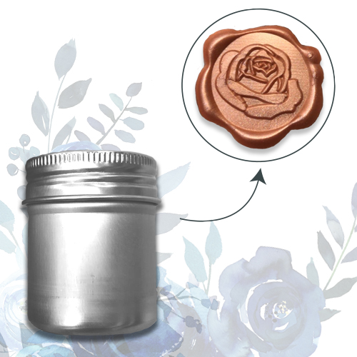 WAX SEAL 3D SELF ADHESIVE STICKERS - ROSE
