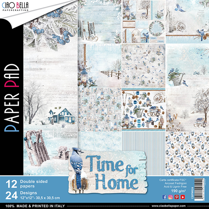 CIAO BELLA TIME FOR HOME DOUBLE-SIDED PAPER PAD 12X12