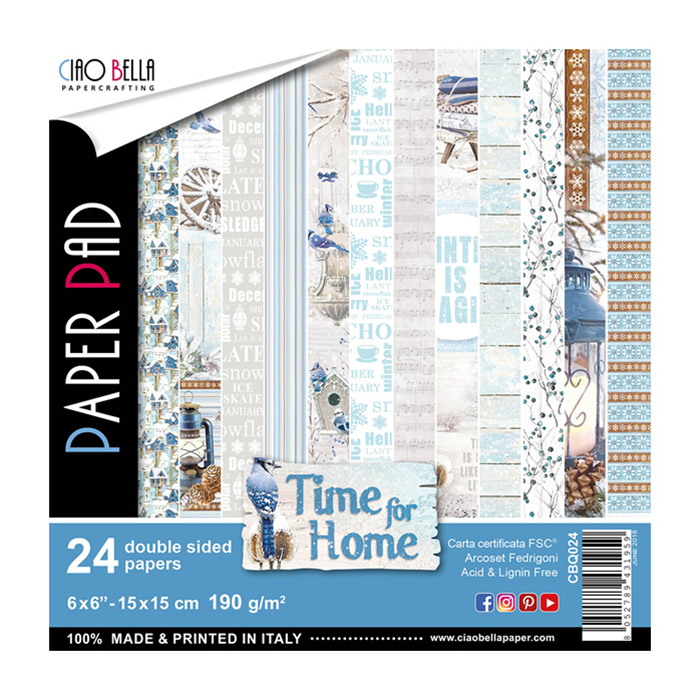 CIAO BELLA TIME FOR HOME DOUBLE-SIDED PAPER PAD 6X6